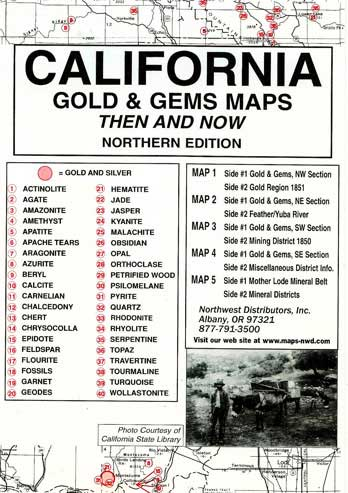 Rockhounding California Map.Gold And Gems Maps Of The Old West
