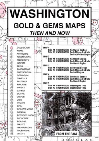 Gold and Gems maps of the old west