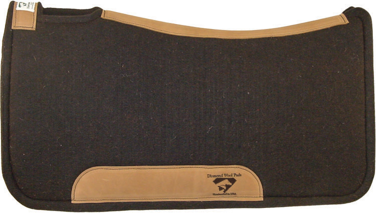 wool countored horse saddle pad