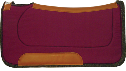 Burgundy Saddle Pad